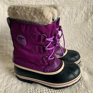 Sorel Girls Yoot Pac Nylon Drawstring Winter Boots
